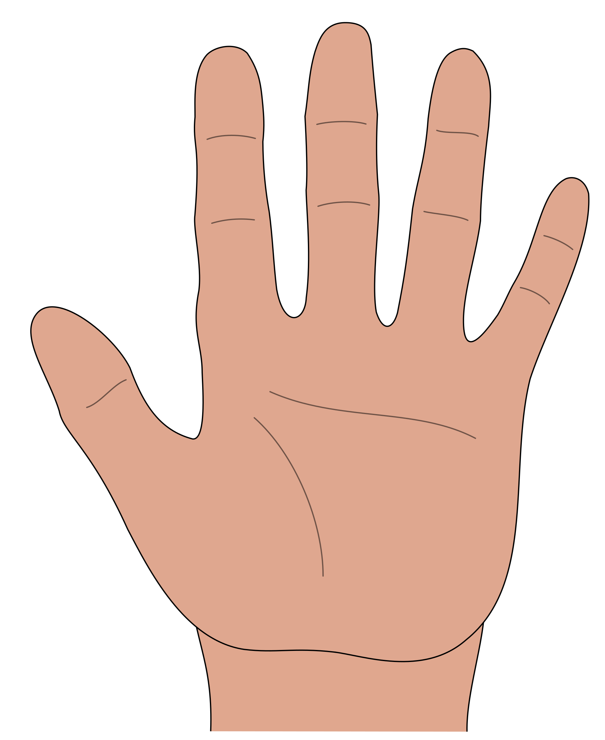 Hand Gesture clipart open hand Hand Hand open Clipart open