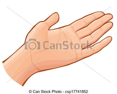 Hand Gesture clipart open hand Open  Vector Clipart Vector