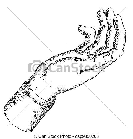 Hand Gesture clipart open hand With holding The Stock