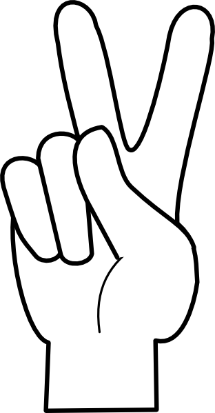 Peace Sign clipart hand Clker as: com Clip at