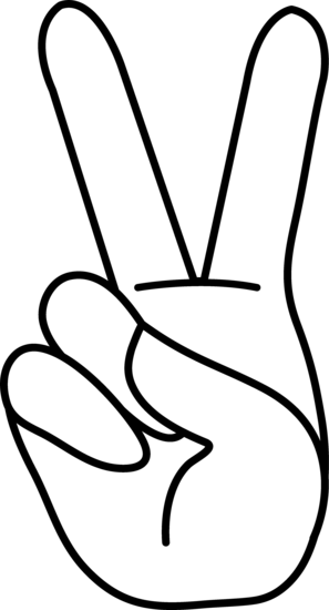 Hand Gesture clipart peace sign finger Hand Coloring Coloring Free Peace