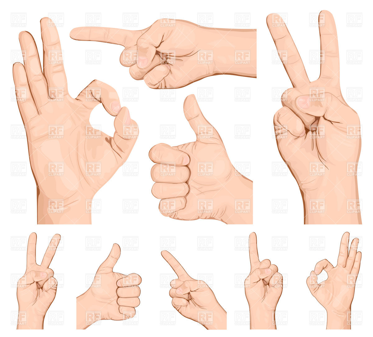 Notice clipart hand signal Vector of Collection illustration Welcome!