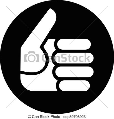 Hand Gesture clipart positive Up csp39708923 Illustration Gesture Thumbs