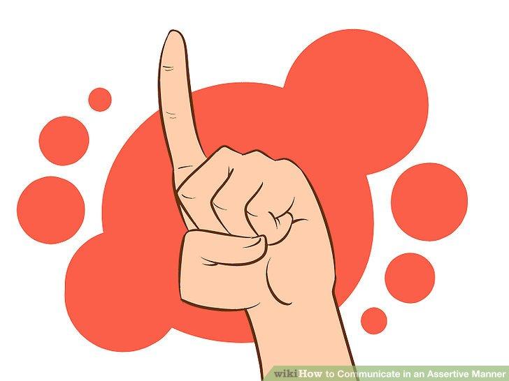 Hand Gesture clipart professional communication Assertive Step Manner: How an