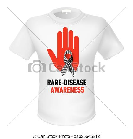 Hand Gesture clipart rare  awareness of Vector White