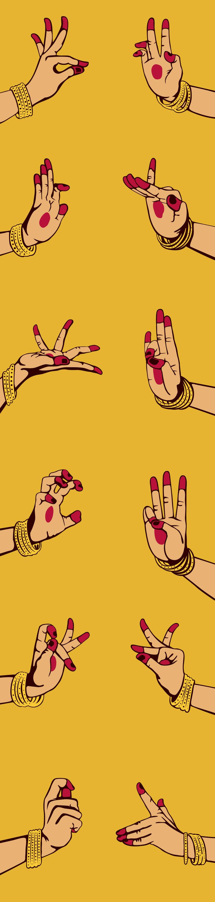 Hand Gesture clipart rare Illustration Best are mudras 20+