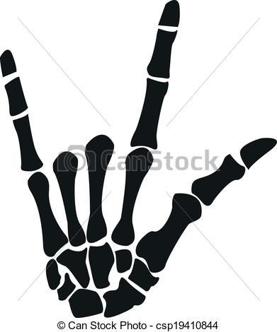 Hand Gesture clipart rock on Vector csp19410844 the EPS Rock
