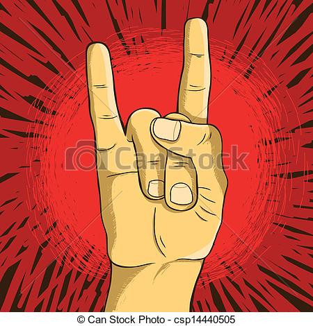 Hand Gesture clipart rock on Symbol n Vector roll hand