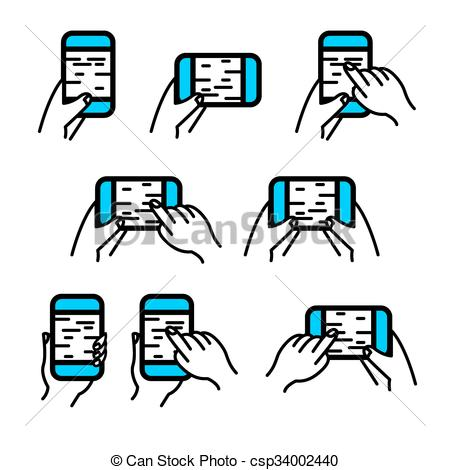 Hand Gesture clipart smartphone Phone Hand in EPS csp34002440