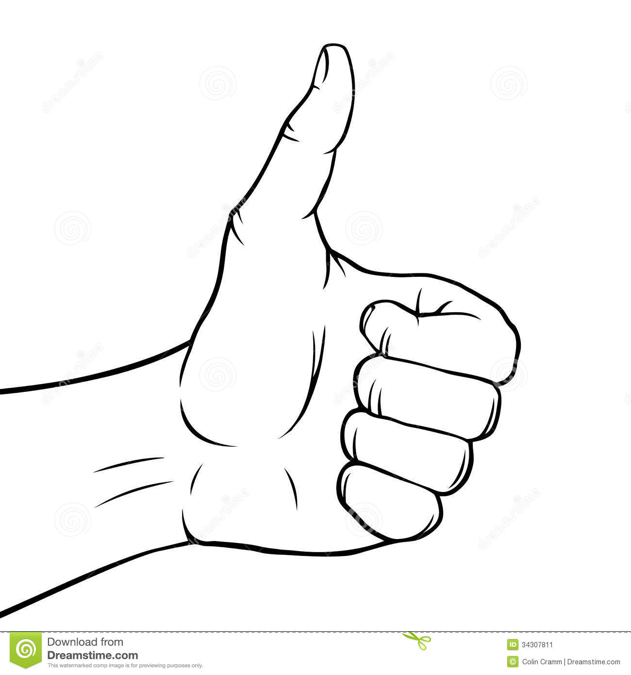 Hand Gesture clipart thumbs up Clipart Hand up and white