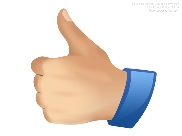 Hand Gesture clipart thumbs up Down PSDGraphics up PSD and