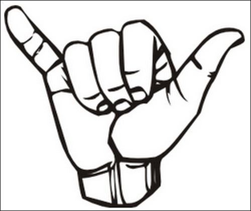 Hand Gesture clipart universal Universal J clipart signs hand