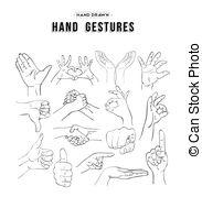 Hand Gesture clipart universal Gesture Hand Gestures  Vector