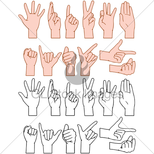 Hand Gesture clipart universal Signs GL Universal License Standard