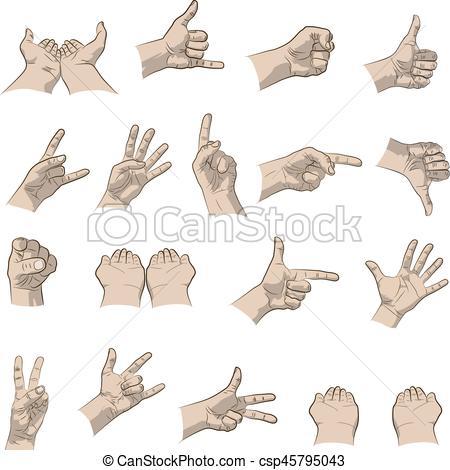 Hand Gesture clipart vector art #3