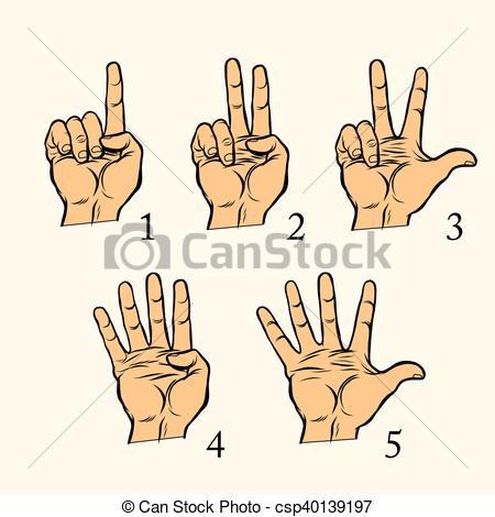 Hand Gesture clipart vector art #4