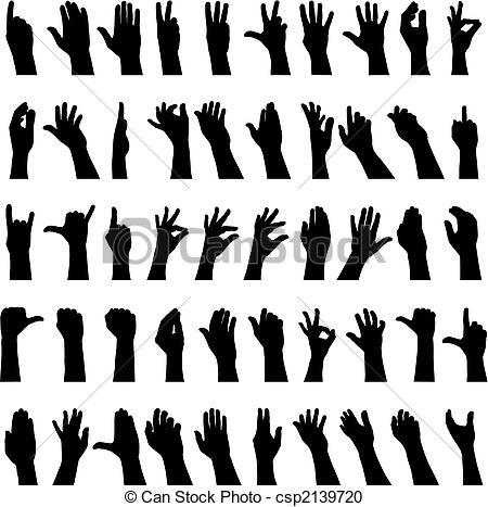 Hand Gesture clipart vector art #2