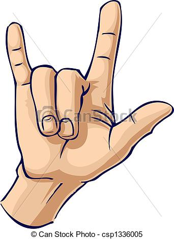 Hand Gesture clipart you Stock Illustrations love hand you