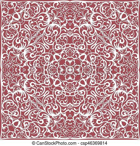 Handkerchief clipart red bandana Illustration background Vector to