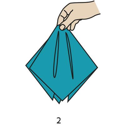 Handkerchief clipart folded Other Handkerchief fold this knots