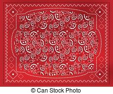 Handkerchief clipart red bandana Bandana patterned Vector 2 paisley
