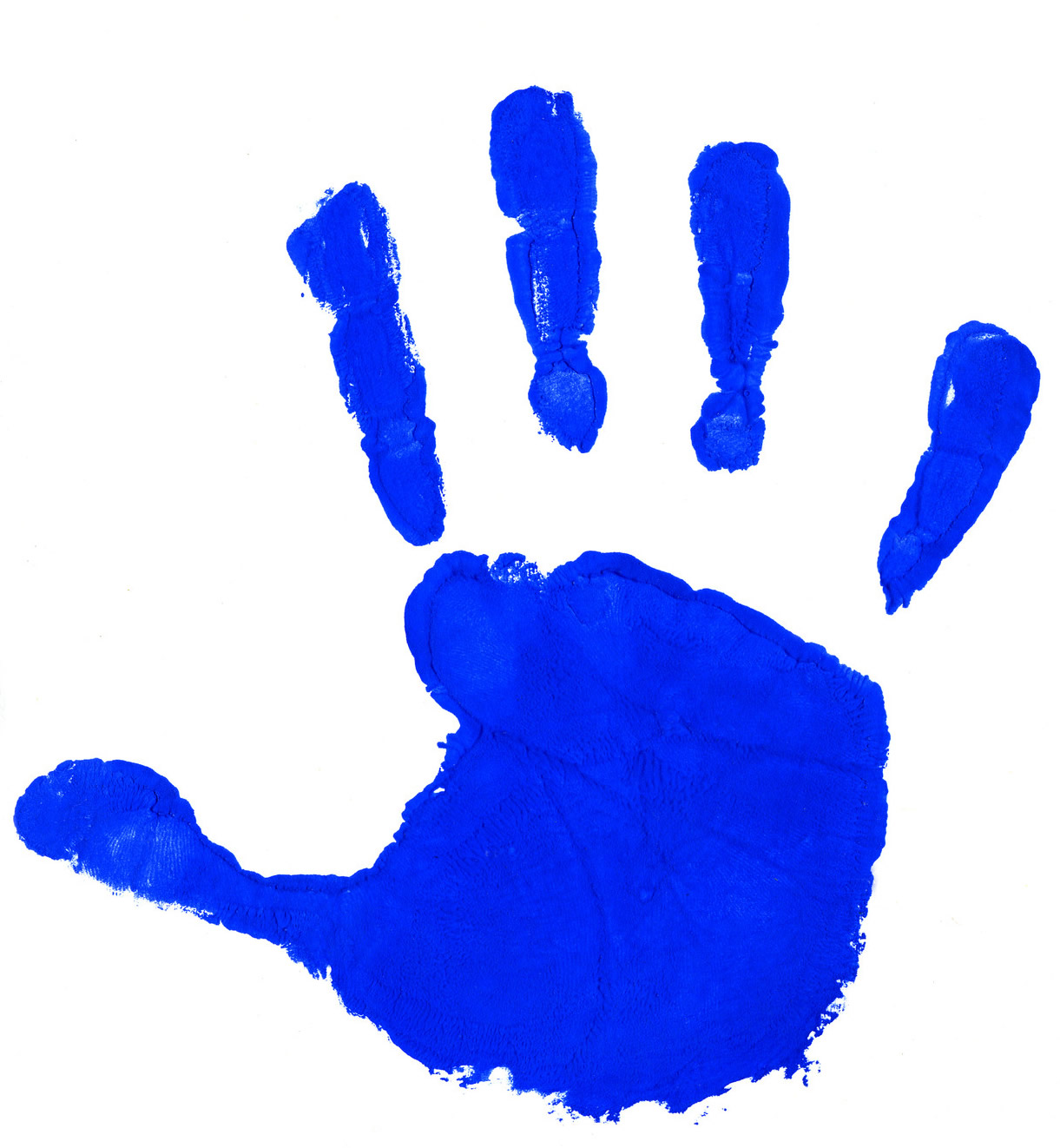 Blue clipart handprint Collection Clipart Clipart Collection Free