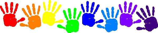 Handprint clipart Art  Art Clker Rainbow