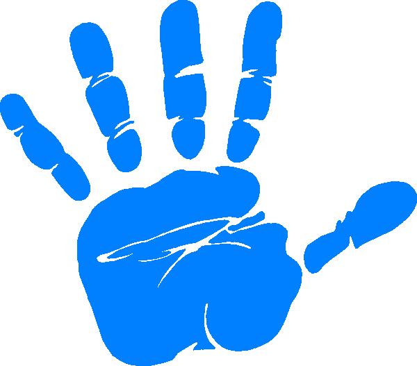 Handprint clipart Clip online Clip at Blue