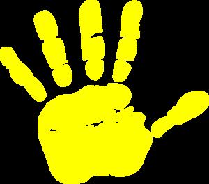 Blue clipart handprint Handprint Download Clipart Handprint Yellow