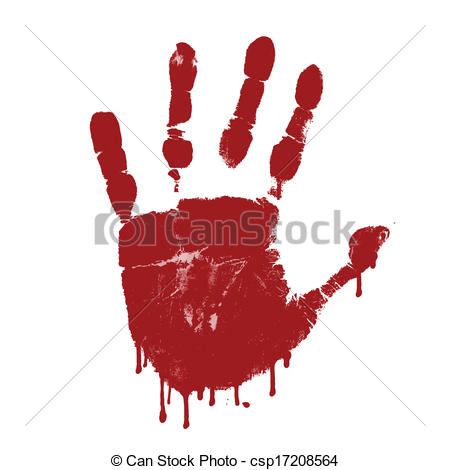 Handprint clipart background Bloody Bloody print on