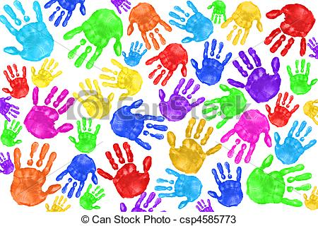 Handprint clipart cross Preschool Preschool Handpain Handprint Clipart