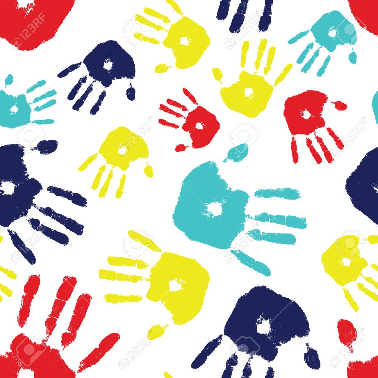 Handprint clipart background Autism Clipart Handprint cliparts Handprint
