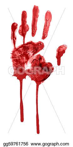 Handprint clipart blood  Stock gg59761756 Drawing handprint