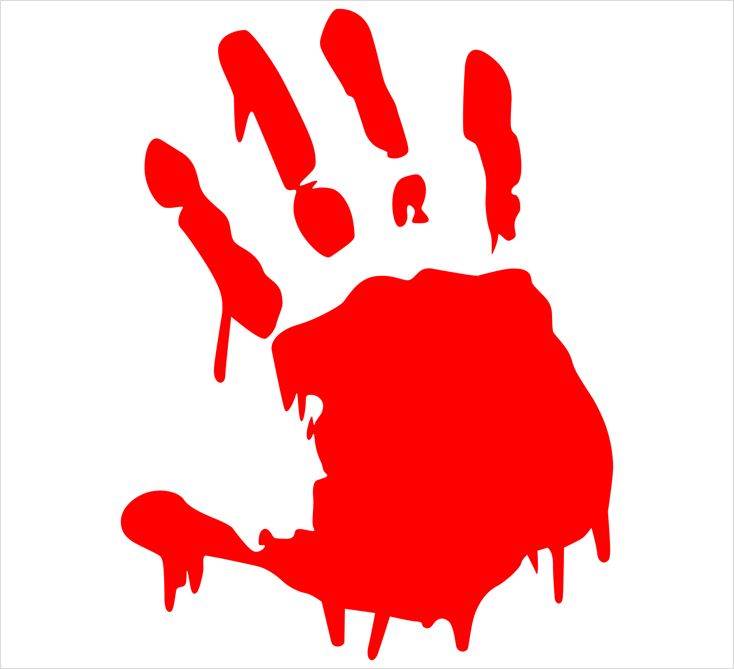Handprint clipart blood Cliparts Single Free Clipart Image
