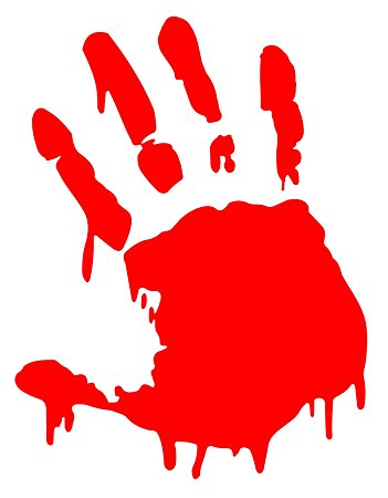 Zombie clipart red #1