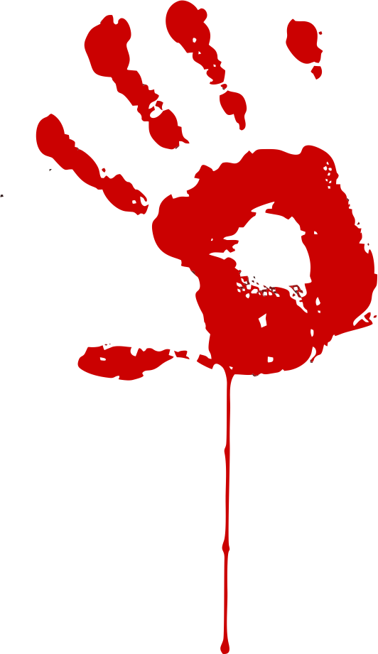 Handprint clipart bloody On by Bloody Hand Bloody