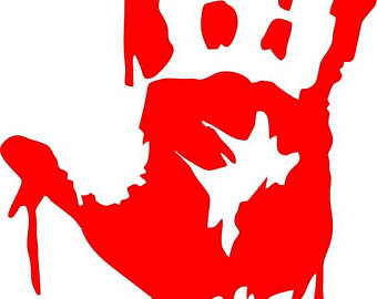 Handprint clipart bloody Sticker Horror Color print Bloody