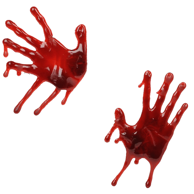 Handprint clipart bloody Search Three of Bloody of