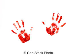 Handprint clipart bloody A images handprints on Handprints