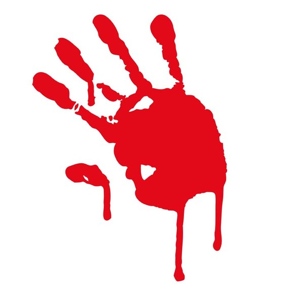 Handprint clipart bloody Gory gory vinyl Bloody decal