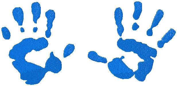 Blue clipart handprint Collection handprint print Baby Baby