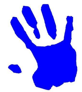 Blue clipart handprint About  the Parent Information