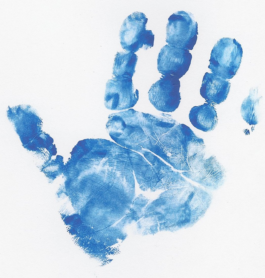 Handprint clipart blue Archives 3 of Hand of