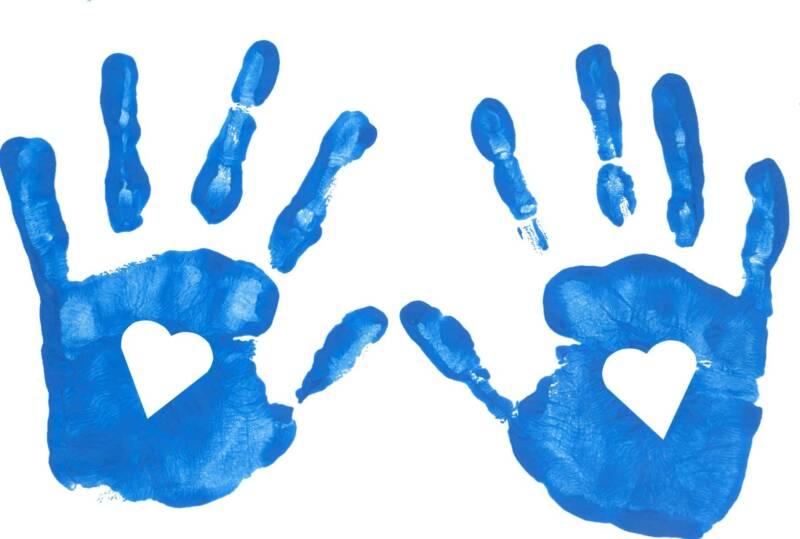Blue clipart handprint Collection handprint black Baby Hand