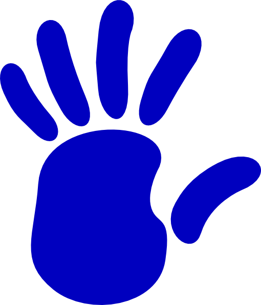 Blue clipart handprint At com image Clker art