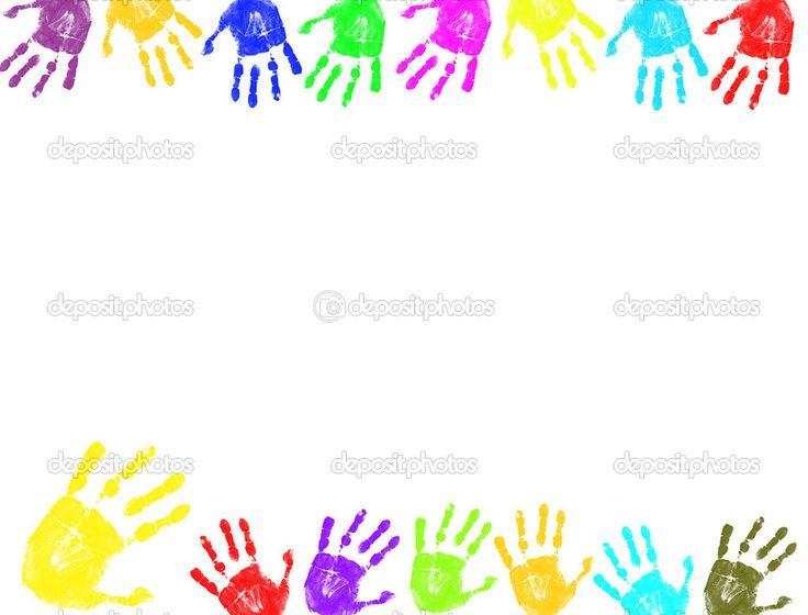Handprint clipart boarder Download Clipart Border Hands Clipart