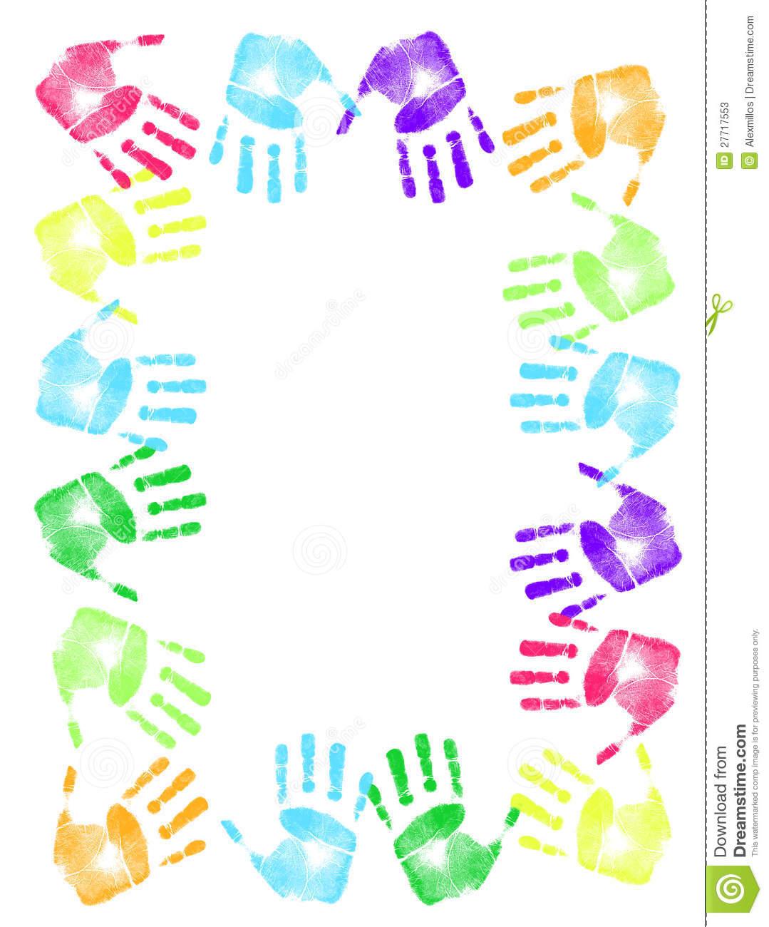 Handprint clipart boarder Handprint Handprint cliparts Vectors Pie
