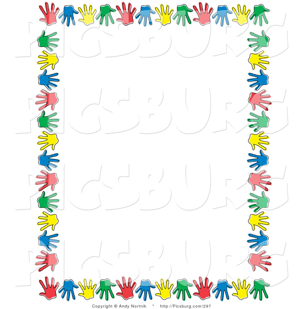 Handprint clipart border Borders Art Nortnik Clip with