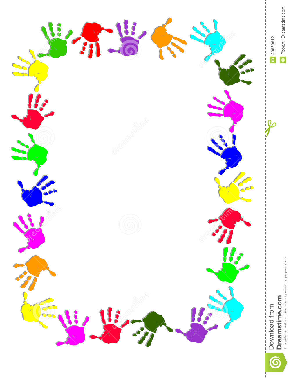 Handprint clipart border Handprint Border Handprint clipart Collection
