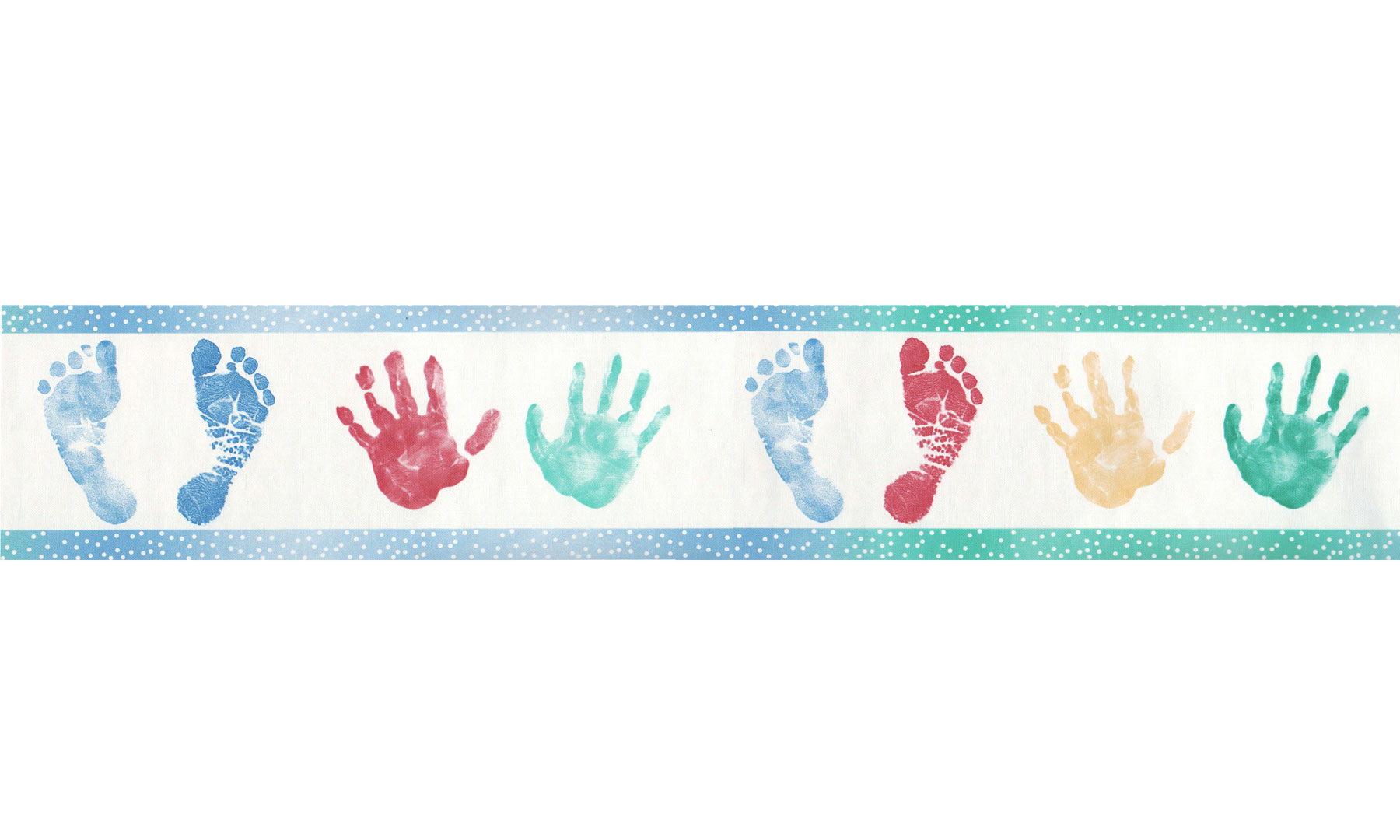 Handprint clipart border 12440633 Wallcoverings com Mountain Footprints